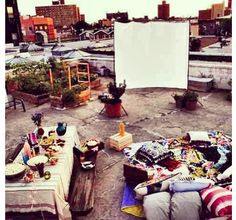 Rooftop party decoration idea LOVE