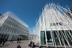 The architecture of the EXPO Gate in Milan from our full article on the multipurpose pavilions of @Expo2015Milano  located in the heart of Milan. http://www.inexhibit.com/case-studies/milan-expo-gate-pavilions-scandurra-studio/