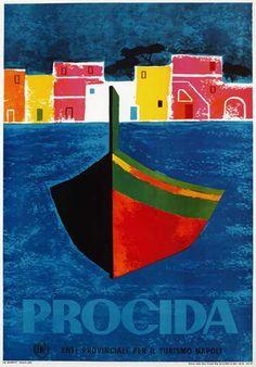 1960s Naples tourism poster