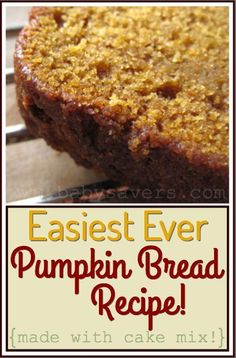 Easy pumpkin bread recipe-1 bowl, made with cake mix
