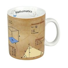"Mathematical ""Mug of Knowledge"" with formulas, equations and more.  Other Sciences coming soon!"