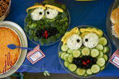 Great way to serve veggies at a Sesame Street party! #sesamestreet #birthday #vegetables