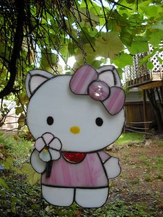 Hello Kitty Stained Glass