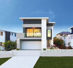 This modern two-storey single family residence designed by Ownit #Homes is located in Rochedale, Brisbane, Australia.