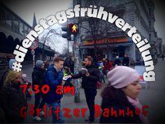 #dienstagsfrühverteilung am #Görlitzerbahnhof #SPDfraktion