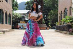 Tie Dye Skirt /Boho Tie Dye Skirt/ Long Skirt / Long Boho Skirt / Maxi Skirt / Full Length Skirt / Boho Beach Skirt / Modest Skirt / Full Length Skirts, Plus Size Skirts, Modest Skirts, Boho Skirts, Elastic Waist Skirt, Beach Skirt, Green Photo, Cropped Top, Cotton Skirt