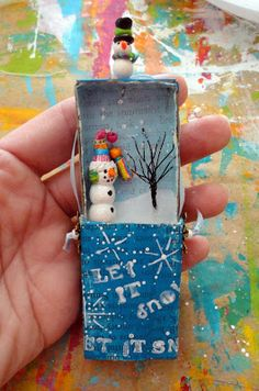 A Creative Dream: Let's finish the match box ornament...