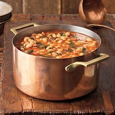 White Bean-and-Collard Soup_    Barbecue sauce adds smokehouse flavor to this simple, hearty soup.
