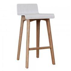 White Marina Plywood Counter Stool