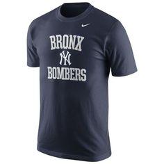 New York Yankees Nike Bronx Bombers Local Phrase T-Shirt - Navy Blue
