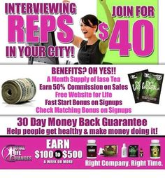 Earn residual Income as you also take control of your health.   Its a double win!! Ask me how or join us by visiting our website!