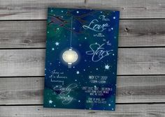 A personal favorite from my Etsy shop https://www.etsy.com/listing/471520615/midnight-blue-sky-stars-written-in-the
