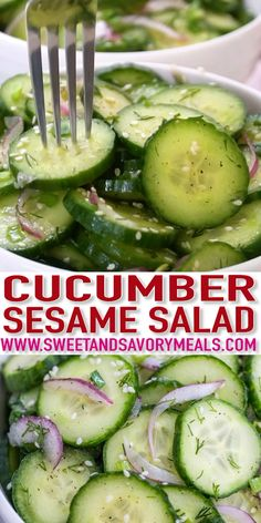Cucumber Salad Recipe is so light and easy to make that it will surely hit the spot on a nice spring or summer days. Cucumber Salad Recipe is so light and easy to make that it will surely hit the spot on a nice spring or summer days. Salad Recipes Video, Best Salad Recipes, Cucumber Recipes, Diet Recipes, Vegan Recipes, Cooking Recipes, Recipes For Cucumbers, Recipe Using Cucumbers, Recipie Videos
