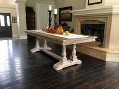 Our English Baluster Table is defined by the sophisticated lines and designs of Old English manners of the 1800s. Massive 5 1/2 hand carved