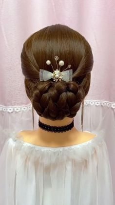 Simple Wedding Hairstyles, Easy Hairstyles For Long Hair, Bride Hairstyles, Headband Hairstyles, Hair Style Vedio, Hair Up Styles, Hair Videos, Hairstyles Videos, Makeup Videos