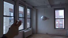 Lâmpada interativa Cloud