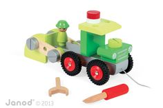 Samochód Wywrotka Janod Garbage Truck, Wooden Toys, Kids Toys, Trucks, Play, Engineer, Wooden Toy Plans, Childhood Toys, Wood Toys