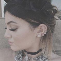 Kylie Jenner ear piercings