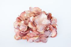 Over 50 Large Metallic Hydrangea Petals in Antique Coral and Mauve - Artificial…