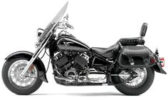 2010 Yamaha V-Star 650 Silverado with studded touring seat and studded leather saddlebags