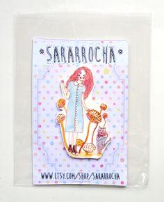 Alice in Wonderland - Brooch par SaraRRocha sur Etsy https://www.etsy.com/fr/listing/222602658/alice-in-wonderland-brooch