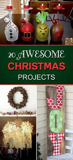 20 Awesome DIY Christmas Projects To Beautify Your Home For The Holidays - - - Haus Dekoration ostern , Diy Christmas Gifts, Winter Christmas, Holiday Crafts, Holiday Fun, Christmas Holidays, Christmas Ornaments, Christmas 2019, Christmas Vacation, Christmas Music