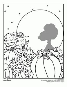 peanuts halloween coloring  231x300 Its the Great Pumpkin Charlie Brown Coloring Pages
