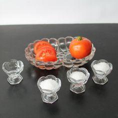 Vintage Glass Open Salt Cellars  free shipping by Hallingtons, $24.95