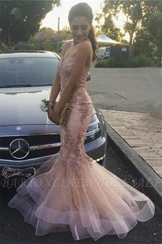 Looking for Prom Dresses,Evening Dresses in Tulle,Lace, Mermaid style, and Gorgeous Appliques work? Babyonlinewholesale has all covered on this elegant Strapless Mermaid Lace Appliques Ruffled Tulle Pink Prom Dresses. Tulle Prom Dress, Pink Prom Dresses, Mermaid Evening Dresses, Ball Dresses, Lace Dress, Tulle Lace, Prom Gowns, Evening Gowns, Evening Party