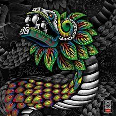 Mayan Tattoos, Mexican Art Tattoos, Indian Tattoos, Tattoo Earth, Quetzalcoatl Tattoo, Aztec Drawing, Arte Latina, Aztec Tattoo Designs, Arte Sci Fi