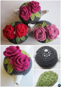 25 Crochet Knit Tea Cozy Free Patterns [Picture Instructions]: Crochet Teapot Cozy, Tea Pot Cosy Cover Free Patterns Round Up Crochet Puff Flower, Crochet Fairy, Crochet Flower Patterns, Diy Crochet, Crochet Crafts, Crochet Flowers, Crochet Projects, Knitting Patterns, Scarf Patterns