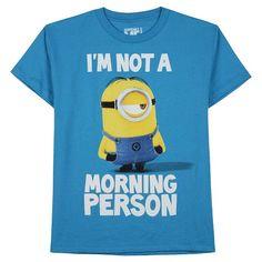 95dc3f361e32e Despic BB Tee Shirts Turq Heather Despicable Me, Morning Person, Tee  Shirts, Minions