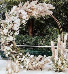 Modern Wedding Backdrop - - - Wedding Reception On A Budget - Burgundy Wedding Boho - Wedding Ceremony Ideas, Wedding Trends, Wedding Designs, Wedding Backdrops, Reception, Arch Wedding, Wedding Backdrop Design, Wedding Ceiling, Fall Wedding Arches