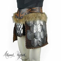 New tassets armor available in my etsy shop in male/female model and multiple sizes 😜. Viking Cosplay, Larp Armor, Leather Armor, Fantasy Characters, Female Models, Vikings, Horse, Fancy, Etsy Shop