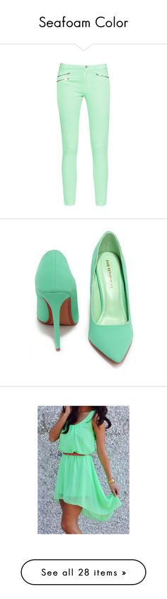"""""""Seafoam Color"""" by enitsa ❤ liked on Polyvore"""
