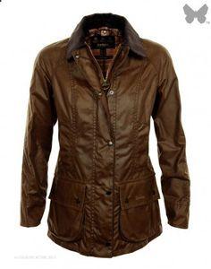 Barbour Ladies Beadnell Wax Jacket  Bark - LWX0051BR31
