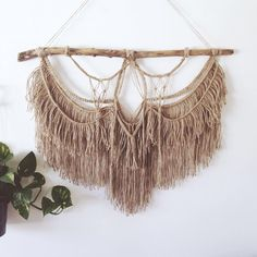 made this yesterday, I really love macrame, feeling inspired from old pictures of giant brown Morrocan and Egyptian tapestries :) want to make a big big one myself one day  @abovebelowdesigns