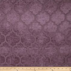 Refresh and modernize an old piece of furniture and update it with a new look. This medium/heavyweight chenille jacquard fabric is appropriate for accent pillows, heavier window treatments, upholstering furniture, headboards and ottomans. Discount Upholstery Fabric, Upholstery Fabrics, Purple Fabric, Pillow Cover Design, Jacquard Fabric, Fabulous Fabrics, Fabric Textures, Home Decor Fabric, Designer Pillow
