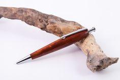 Kugelschreiber - Edler Holzkugelschreiber aus Amboina Narra Holz - ein Designerstück von Wood-Writing bei DaWanda