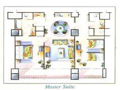 beautiful master suite floor plan