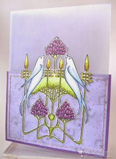Chocolate Baroque Design Team: Nouveau Lovebirds (by Asha)