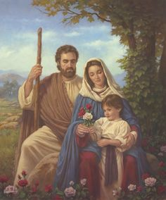 """Mary and Baby Jesus"" -- by Corbert Gauthier, American Saint Yves, Birth And Death, Joseph, Holy Family, Son Of God, Artist Names, Marie, Baby Jesus, Painting"