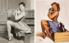 Gil Elvgren Pinup Paintings and the Photos That Inspired Them Show that Photoshop Was Preceded By Oil Paints