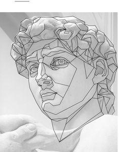 Geometric Portrait in photoshop