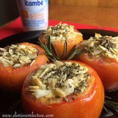 O Diário de Receitas Sem Lactose: Tomates recheados com frango cremoso