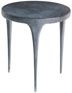 john reeves design aluminum side table for outdoors.