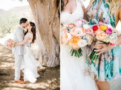 Peach and Pink Bouquet | Malibu Hilltop Wedding | Josh Elliott Photography | Sugar Branch Events