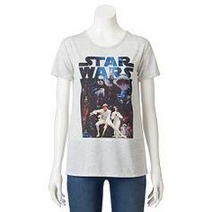 Juniors' Star Wars Luke & Leia Graphic T-Shirt