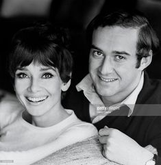Audrey and Andrea Dotti were married on 18th January 1969 in Morges, Switzerland. Photograph by Henry Clarke for Vogue.
