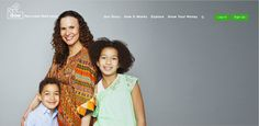 Tanya Van Court, founder and CEO of iSow, with her two children Gabrielle and Hendrix